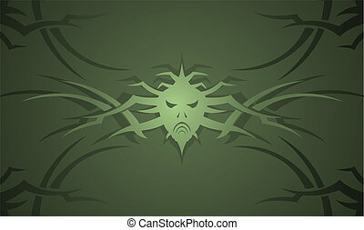 Vector illustration of an abstract