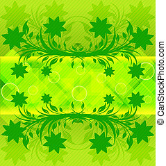 vector illustration of an abstract green background. eps10