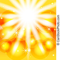 vector illustration of an abstract orange sunny background.