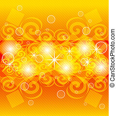 abstract orange background - vector illustration of an ...