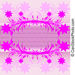 abstract pink floral background.
