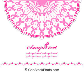 vector illustration of an abstract pink Support Ribbon background