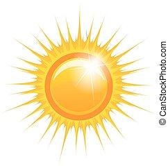 Vector Illustration of an Abstract Sun