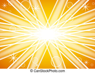 vector illustration of an abstract yellow background with sun splash
