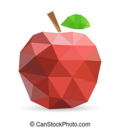 Vector illustration of an apple