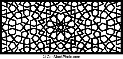 vector illustration of an arabesque design element