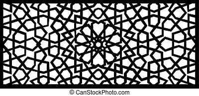 arabesque design element - vector illustration of an...