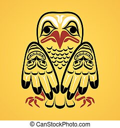 Vector illustration of an eagle. Modern stylization of North...