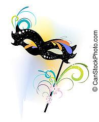 carnival mask - vector illustration of an elegant carnival ...