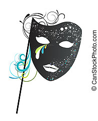 carnival mask - vector illustration of an elegant carnival ...