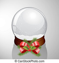 vector illustration of an elegant snow dome