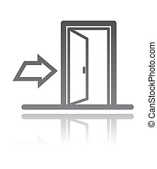 vector illustration of an exit sign. navigation concept
