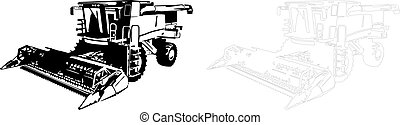 Vector illustration of an harvester.