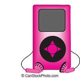 vector illustration of an ipod