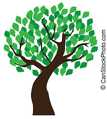 vector illustration of an oak