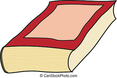 Vector illustration of an old book