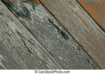 vector illustration of an old wood texture - vector...