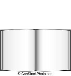 vector illustration of an open book isolated on a white background