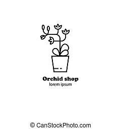 flower shop logo design
