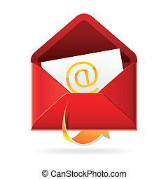 Outbox mails icon - Vector illustration of an Outbox mails ...