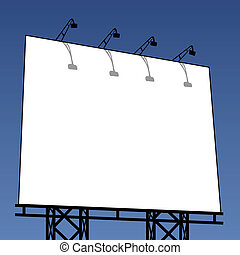 outdoor billboard - vector illustration of an outdoor...