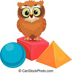 Owl with Geometric Shapes