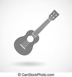 Vector illustration of an ukulele - Illustration of an ...