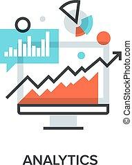 analytics - Vector illustration of analytics flat line...