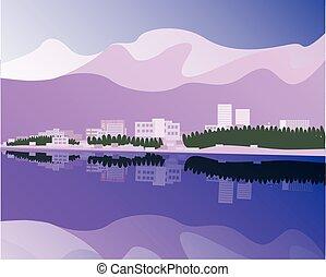 Anchorage - vector illustration of Anchorage