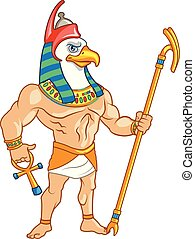 Ancient Egypt Mythology God of Sky Horus - Vector ...