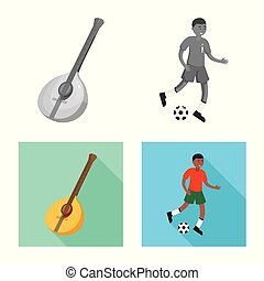 Vector illustration of and historic icon. Collection of and country stock symbol for web.