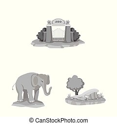 Vector illustration of and park logo. Set of and animal vector icon for stock.