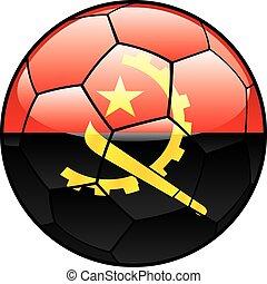 Angola flag on soccer ball