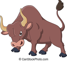 Angry bull cartoon - Vector illustration of Angry bull ...