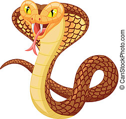 Angry cobra cartoon - Vector illustration of Angry cobra...