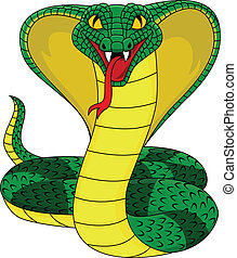 Vector illustration of angry cobra snake