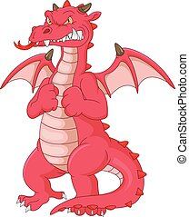 angry dragon cartoon