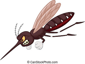 Angry mosquito cartoon - Vector illustration of Angry ...