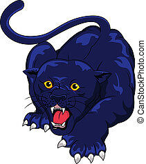 Angry Panther - Vector Illustration Of Angry Panther