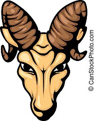Angry ram head mascot illustration