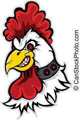 angry rooster head