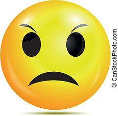 Angry smiley emoticon - Vector illustration of Angry smiley ...
