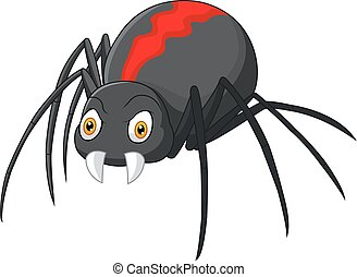 Angry spider cartoon