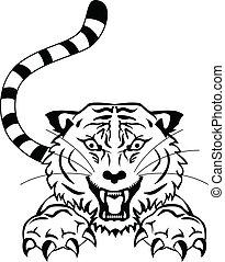 angry tigger tattoo