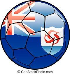 Anguilla flag on soccer ball