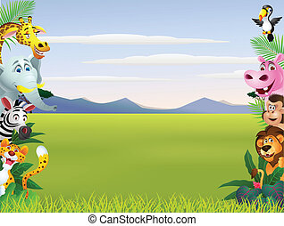 Animal cartoon  - Vector illustration of Animal cartoon