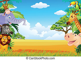 Vector illustration of animal cartoon