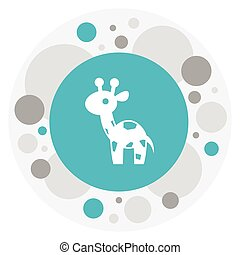 Vector Illustration Of Animal Symbol On Camelopard Icon. Premium Quality Isolated Giraffe Element In Trendy Flat Style.
