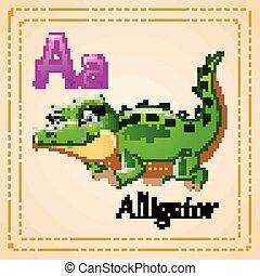 Animals alphabet: A is for Alligator