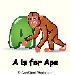 Animals alphabet: A is for Ape